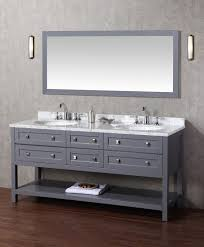 gray double sink vanity. stufurhome marla 72 inch double sink bathroom vanity with mirror in grey | gray