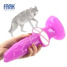 <b>FAAK big Animal dog</b> dildo knotted suction cup wolf penis sex toys ...