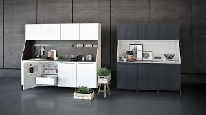 interior design kitchen. Kitchen Sideboard In Lotus White And Black Matte Oak With Accessory Railing, Outlets Lighting Interior Design