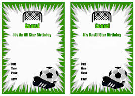 soccer theme party invitations printable free printable party invitations