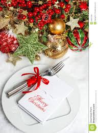 free christmas dinner invitations festive table setting decoration dinner invitation concept stock