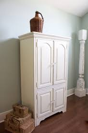 antique white chalk paintChalk Painted Armoire Makeover  2 Bees in a Pod