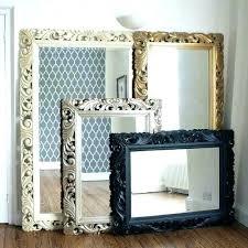 oak framed wall mirrors rustic wood mirror frame9 rustic