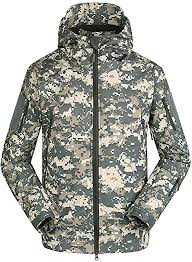 LiliChan Men's <b>Military</b> Soft Shell <b>Tactical Jacket Outdoor Sports</b> ...