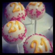 Delish 21st Birthday Cake Pops