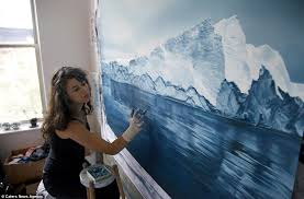 amazing realistic finger paintings realistic finger paintings of icebergs by zaria forman
