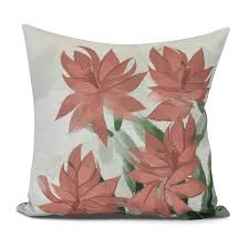 E By Design Pillows Amazon Com E By Design Christmas Cactus Decorative Floral
