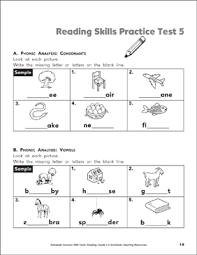 Just click on the pictures below and print! Reading Skills Practice Test 5 Grade 2 Printable Test Prep And Tests