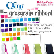 Offray Grosgrain Ribbon Color Chart Popular Made In The Usa Offray Grosgrain Ribbon Available In