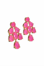 hot pink kate chandelier earrings by spade new york accessories