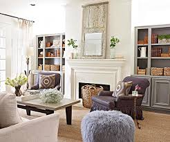 Some traditional-style fireplaces downshift to a more casual level, like in  less formal family spaces and vacation homes. In this bright living room,  ...