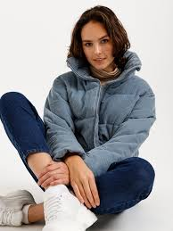 Короткая <b>куртка из вельвета</b> цвет: голубой, артикул: 0802011127 ...