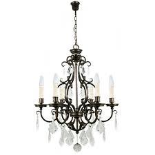bronze chandelier louis 15th 6 light pendant