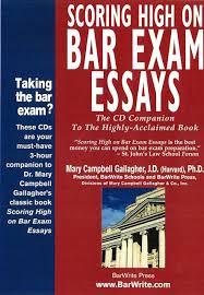 Bar Exam Essays Gallaghers Scoring High On Bar Exam Essays Cd Companion To The Book