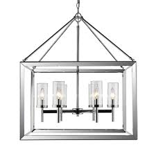 golden lighting smyth 6 light chrome chandelier with clear glass shade 2074 6 ch clr the home depot