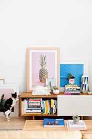diy leather framed artwork living room reveal