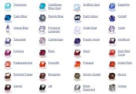 Bicone Bead Size Chart Swarovski Bicone Color Chart Jewellery Making Beading