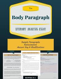 the body paragraph for essay writing structure and organization  the body paragraph for essay writing structure and organization