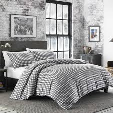 ed bauer preston 3 piece grey full queen duvet cover set 223753 the home depot