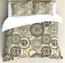 african print bedding primitive duvet cover set safari patterns cheetah skin print animal theme neutral color