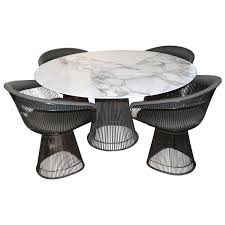 Image Coffee Table Warren Platner Arabesque Marble Dining Table With Four Chairs 1stdibs Four Piece Platner Table And Chairs For Sale At 1stdibs