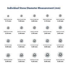 Diamond Ctw Size Chart Diamond Stud Earrings Size Stud Earrings References