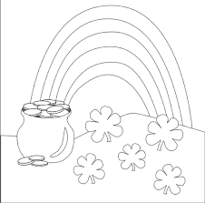 Small Picture st patricks day coloring pages rainbow rainbow and pot of gold