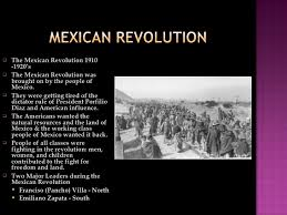 the areras of the mexican revolution 4 <ul><li>the mexican revolution