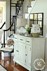 furniture for entrance hall. BUFFET IN FOYER-farmhouse Buffet Paied With Black Chair-stonegableblog.com Furniture For Entrance Hall C