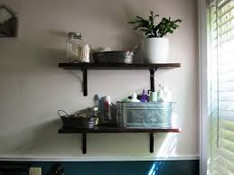bathroom shelves decor. Image Of: Small Wooden Bathroom Shelves Decor V