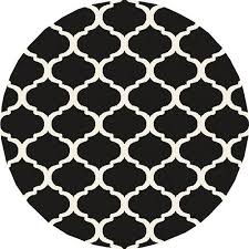 wellsuited black and white round rug circle rugs decoration