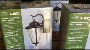 how to install outdoor light fixture altair led outdoor energy saving lantern costco light