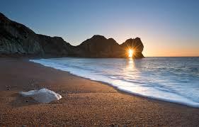 Wallpaper winter, beach, the sun, rays ...