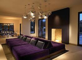 Rec room lighting Boys View In Gallery Stylish Rec Room With Purple Double Couch And Fireplace Twentylokerinfo Rec Room Design Ideas For Some Fancy Time At Home