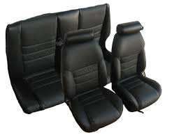 1997 1998 ford mustang gt convertible front rear with small headrest seat upholstery kit u652
