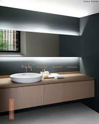 lighting behind mirror. Led Lights Behind Bathroom Mirror Energy Efficient The Back Lit Screwed To Grey Light Up For Lighting