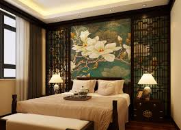 Bedroom:Stupendous Asian Themed Bedroom With Feng Shui Furniture Style And  Red Bedding Earthy Natural