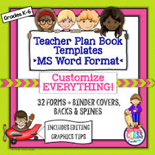 How To Create Binder Spines In Word Teacher Plan Book Templates Fully Editable In Ms Word Create Your