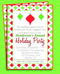 Holiday Party Invitation Wording Examples Afourstudio Co