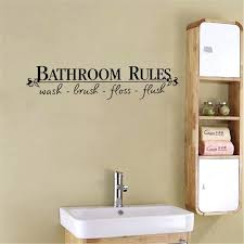wall sticker letters removable wall sticker letter bathroom rules vinyl art sticker for bathroom home decor