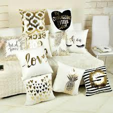 US $3.08 20% OFF|Bling Sequin Bronzing Pillowcase Pillows Case Cover Pillow Art Stripe Lips Eyelash Black White Gold Bedroom Home Decorative-in Pillow ...
