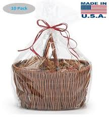 extra large jumbo size clear cellophane bags basket bags cello gift bags extra large flat bag 30 in x 40 in 10 pack