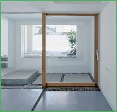glass doors with wood frame
