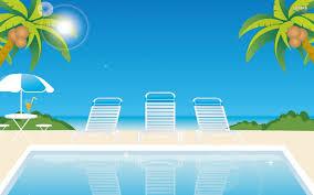 Summer Beach Swimming Pool Vector Design Wallpaper 9652 Ongur