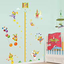 Kindergarten Height Chart Winhappyhome Circus Cute Clown Children Height Measurement