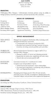 Resume Objective For Office Administrator
