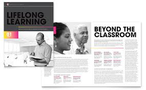 Adult Education Business School Brochure Template Word Publisher