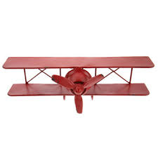 red airplane metal wall decor hobby