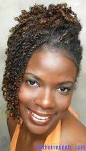 hairstyle with double strand twist