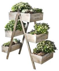 folding wood plant stand flowers and plants wooden plant stand six seed boxes pertaining to outdoor